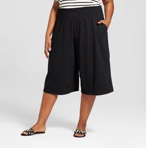 Ava & Viv Black Stretchy Culottes Pants Size 4X